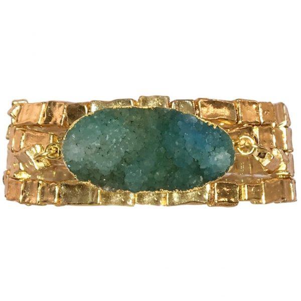 B80015.16 - Bracelet avec de perles doré à l'or fin