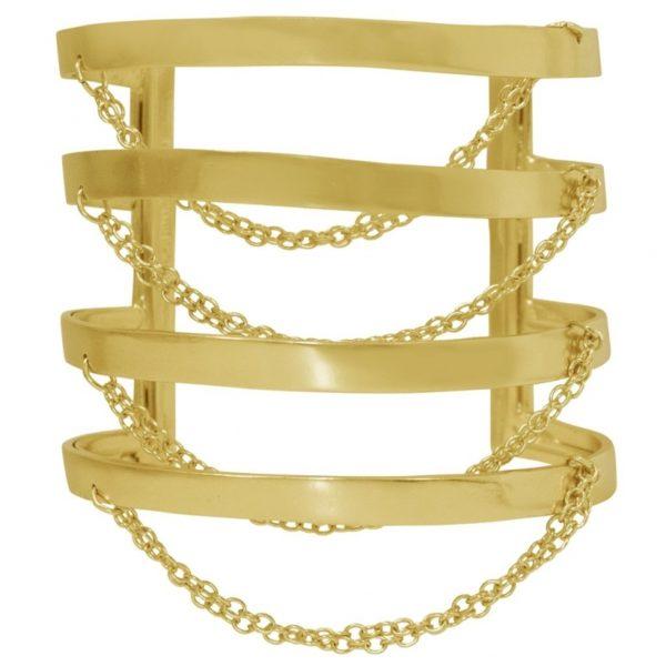 B67011.10 - Bracelet doré ajustable avec une chaine glissante