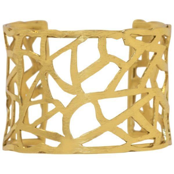 B67019.30 - Bracelet doré à l'or fin martelé