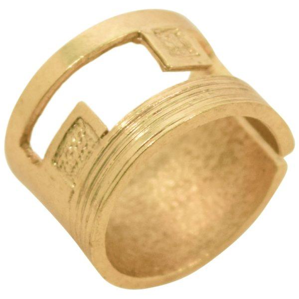 R67052.30 - Bague dorée épaisse et brossée