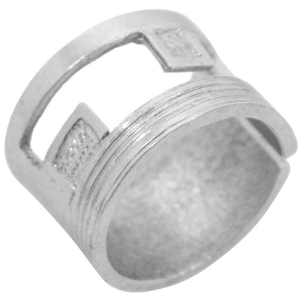 R67052.40 - Bague argentée épaisse et brossée