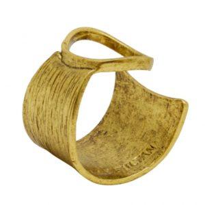R66601.30 - Bague doré brossé