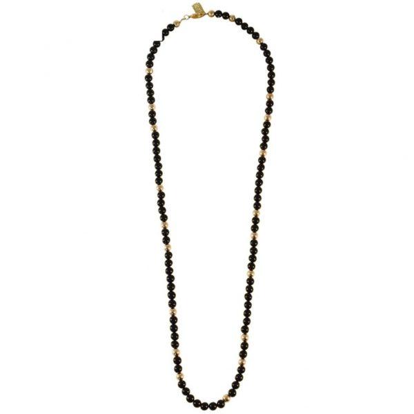 N80021.13 - Collier doré avec pierre naturelle