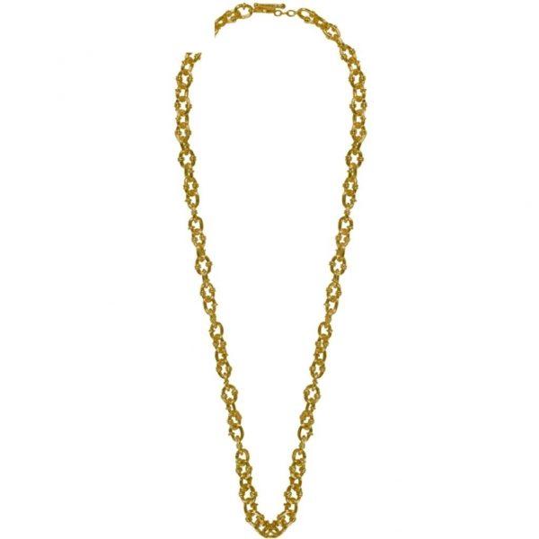 N67020.30 - Collier doré à l'or fin de style antique