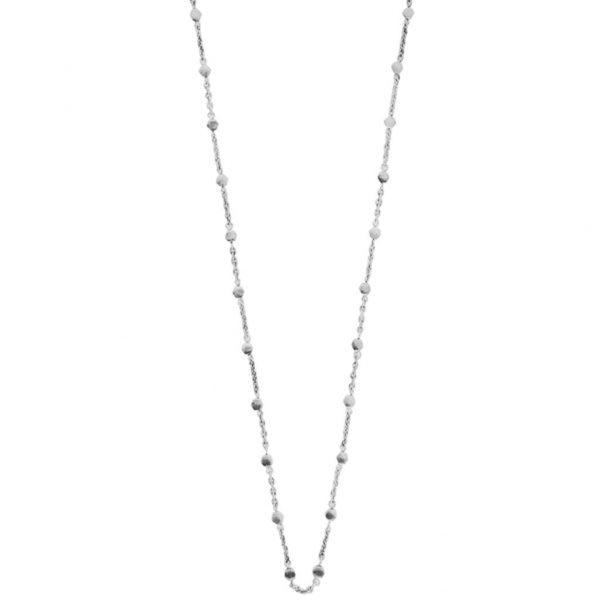 N67024.40 - Chaine fine avec petite pépite argenté