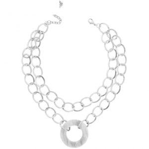N67089.40 - Collier simple argenté