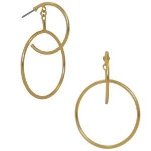 E67063.10 - Boucles d'oreilles doré élégante
