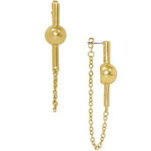 E67072.30 - Boucles d'oreilles doré moderne
