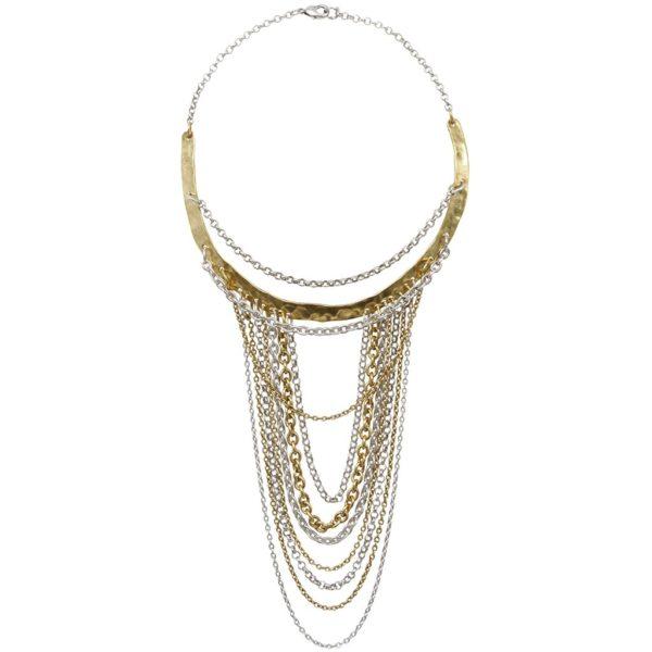 N66704.01 - Magnifique collier doré et argenté