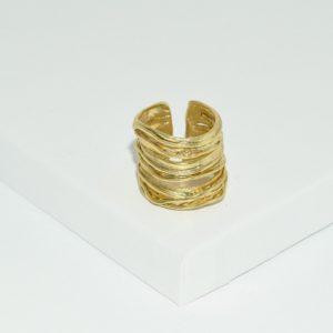 R66602.30 - Anneau doré brossé
