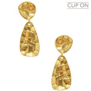 E67113.30 - Boucles d'oreilles doré moderne