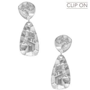 E67113.40 - Boucles d'oreilles argenté moderne