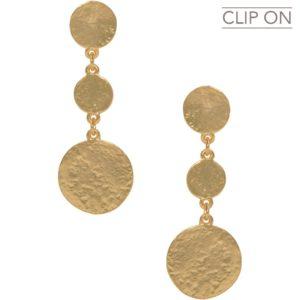 E67112.30 - Boucles d'oreilles doré médaillons