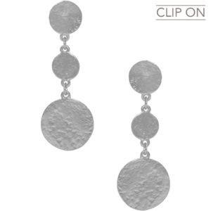 E67112.40 - Boucles d'oreilles argenté médaillons