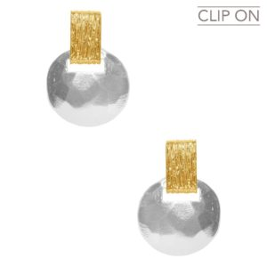 E67110.01 - Boucles d'oreilles doré et argenté