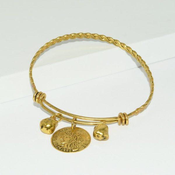 B80070.30 - Bracelet doré à l'or fin adaptable