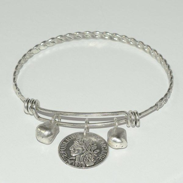 B80070.40 - Bracelet argenté et adaptable