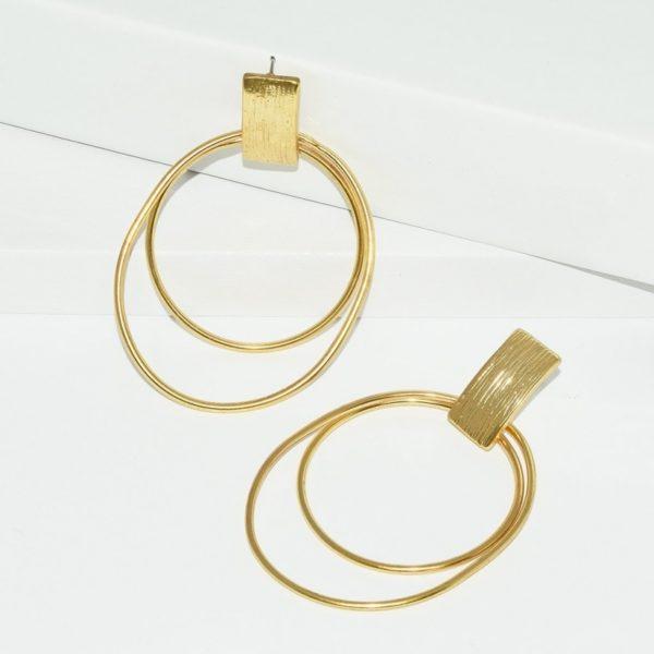 E80023.10 - Boucles d'oreilles doré élégantes