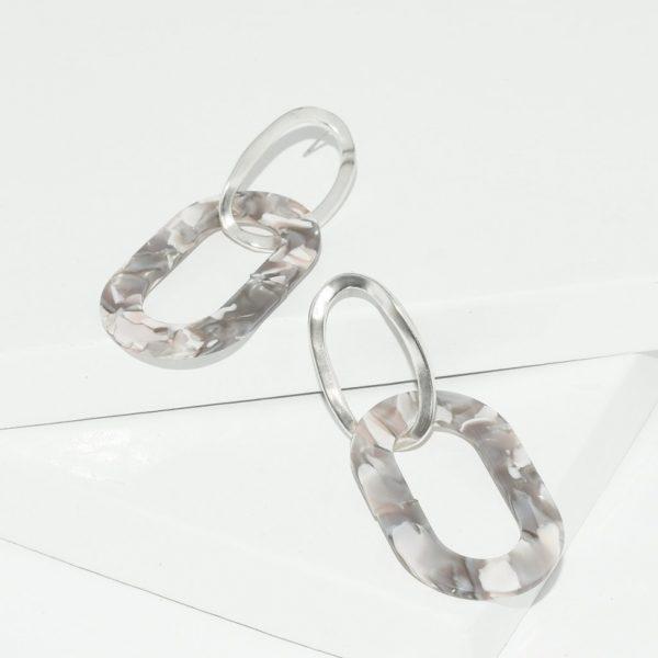 E80061.20 - Boucles d'oreilles argenté élégantes
