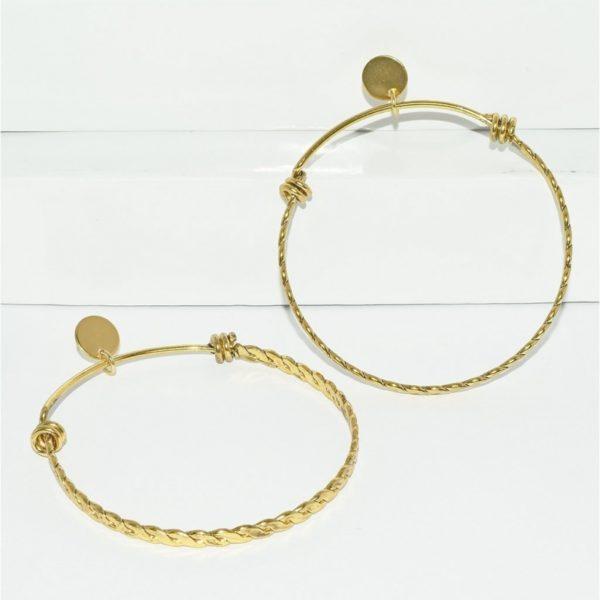 E80069.30 - Large boucles d'oreilles dorées