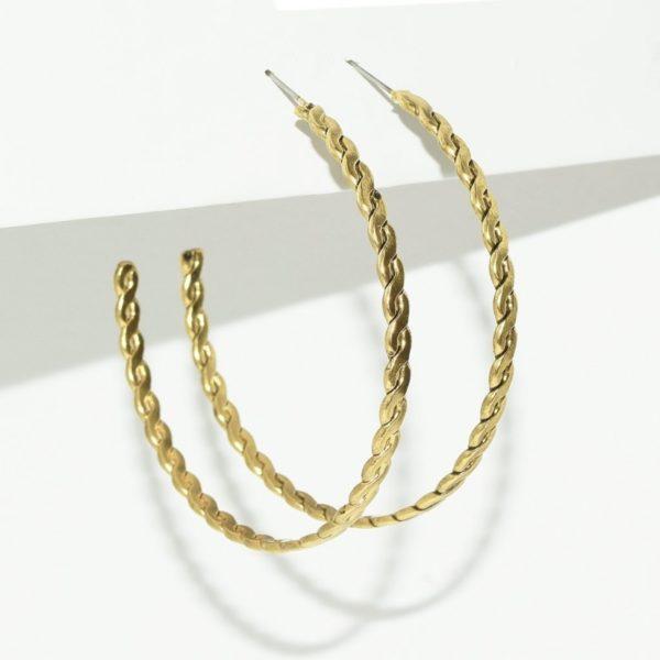 E80071.30 - Large boucles d'oreilles doré