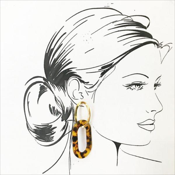 E80061.10 - Boucles d'oreilles doré élégantes