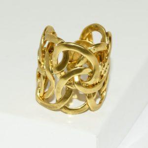 R67128.30 - Bague artistique dorée