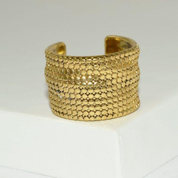 R80096.30 - Bague artistique dorée style manchette