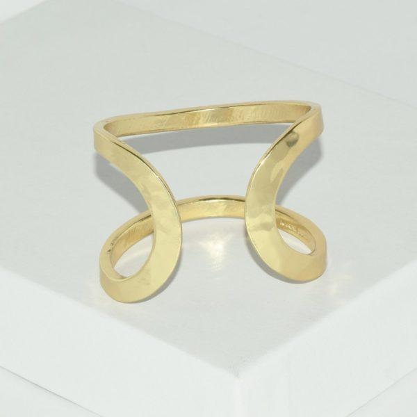 R80098.10 - Bague artistique dorée style manchette