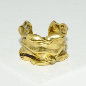 R80099.10 - Bague artistique dorée style manchette