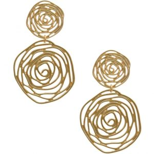 E64135.10 Boucles d'oreilles dorées