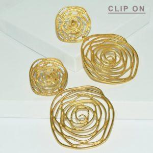 E68040.10 Boucles d'oreilles dorées