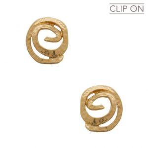 E67104.30 Boucles d'oreilles dorées