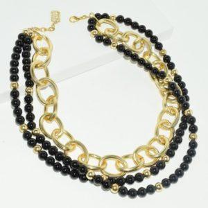 N68917.13 - Collier doré avec perles