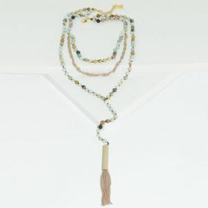N80042.95 - Collier doré avec perles