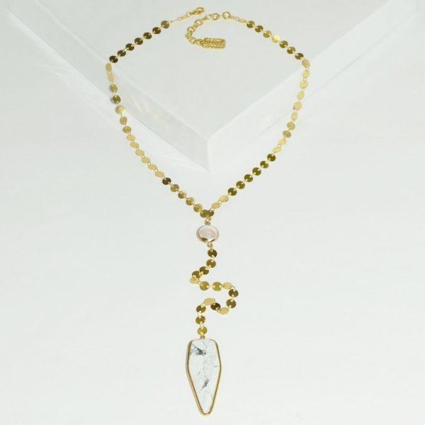 N80053.12 - Collier doré avec perles