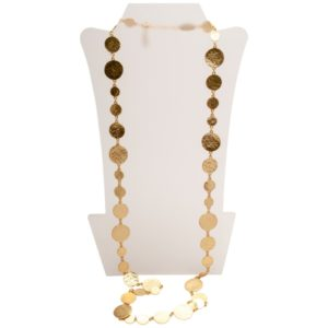 N50875.10 Collier doré à l'or fin 24 carats avec médaillon martelé