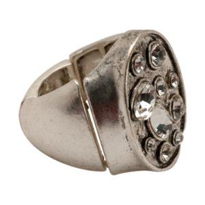 R50225.41 Bague argentée au 925 sterling avec perles de cristal