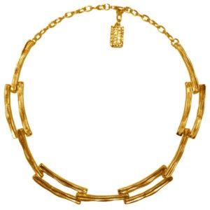 N19008.10 - Collier doré à l'or fin 24 carats avec un design de chaine
