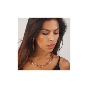 N19008.50 - Collier doré à l'or rose fin 24 carats avec un design de chaine