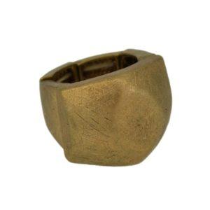 R50146.30 - Bague dorée à l'or fin 24 carats avec une texture brossé