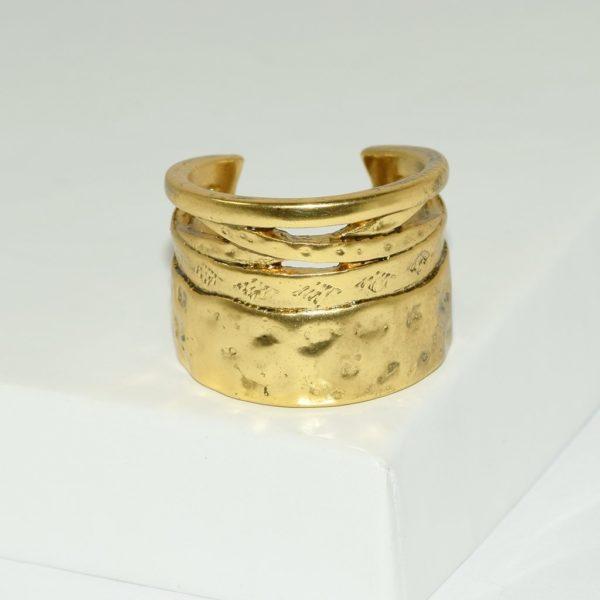 R80091.30 - Bague artistique dorée style manchette